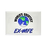 World's Greatest EX-WIFE Rectangle Magnet