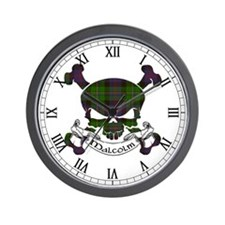 Malcolm Tartan Skull Wall Clock