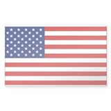 American Flag Rectangle Bumper Stickers