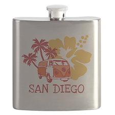 San Diego Hippie Surf Bus Flask