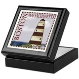 Boston Massachusetts Keepsake Box