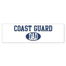 Coast Guard dad Bumper Car Sticker