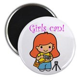 Girl Photographer 2.25&quot; Magnet (10 pack)