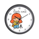 Girl Photographer Wall Clock