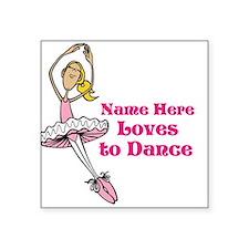 Custom Dancer Design Sticker