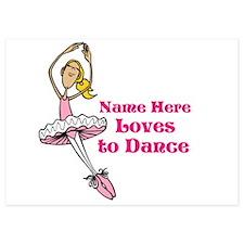 Custom Dancer Design Invitations