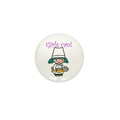 Girl Chef Mini Button