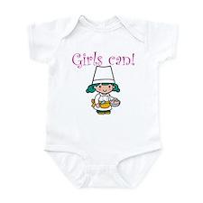 Girl Chef Infant Bodysuit