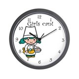 Girl Chef Wall Clock