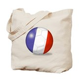 French Flag Soccer Ball  Tote Bag