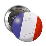 French Flag Soccer Ball Button