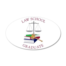 Law School Graduate Wall Decal