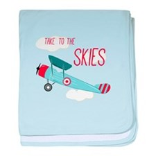 Take to the Skies baby blanket