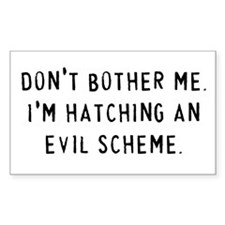 Hatching an Evil Scheme Rectangle Decal