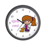 Girl Veterinarian Wall Clock