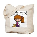 Girl Veterinarian Tote Bag