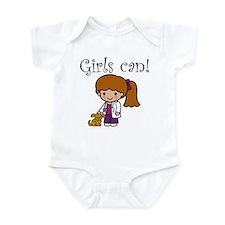 Girl Veterinarian Infant Bodysuit