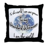 Schnauzer World2 Throw Pillow