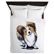 Tricolor Papillon Queen Duvet