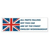 British Car Bumper Car Sticker