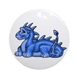 Baby Blue Dragon Ornament (Round)
