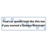 Your Car Golden Retriever Bumper Car Sticker