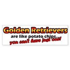 Potato Chips Golden Retriever Bumper Bumper Sticker