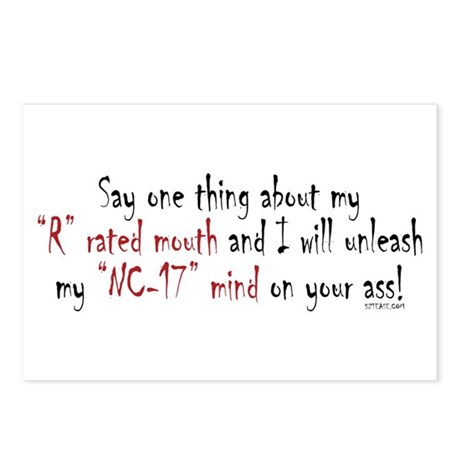 R-Rated Mouth Postcards (Package of 8)