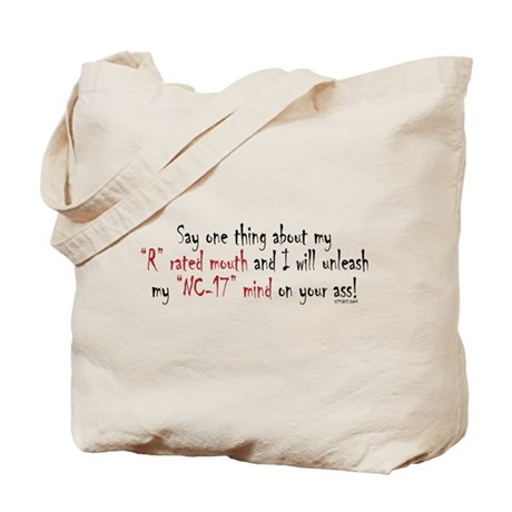 R-Rated Mouth Tote Bag