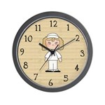 Military Woman Wall Clock