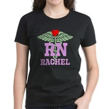 Personalized RN heart caduceus T-Shirt