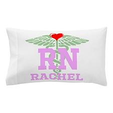 Personalized Rn Heart Caduceus Pillow Case