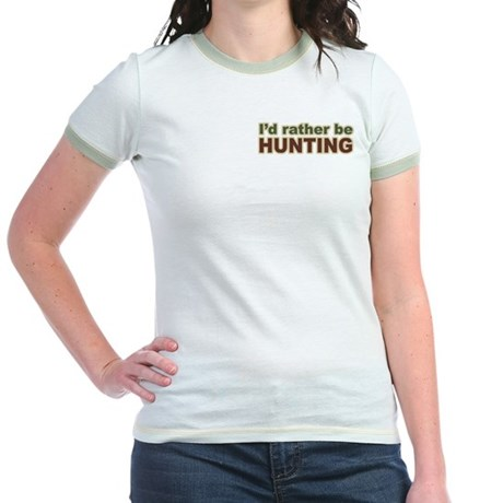 I'd Rather Be Hunting Hunter Jr. Ringer T-Shirt