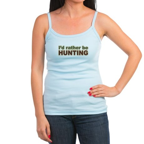 I'd Rather Be Hunting Hunter Jr. Spaghetti Tank