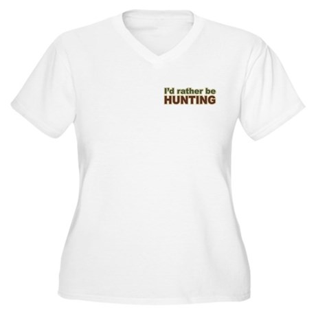 I'd Rather Be Hunting Hunter Women's Plus Size V-N