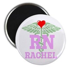 Personalized Rn Heart Caduceus Magnets
