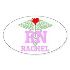Personalized Rn Heart Caduceus Stickers