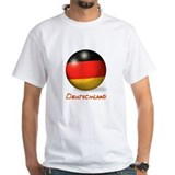 Deutschland Flag Soccer Ball Shirt