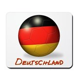 Deutschland Flag Soccer Ball Mousepad