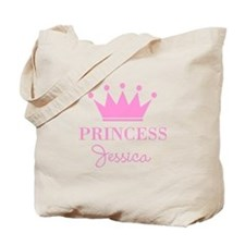Personalized pink princess crown Tote Bag