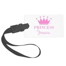 Personalized pink princess crown Luggage Tag