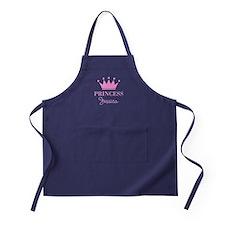 Pink Princess Crown Apron (dark) For Women