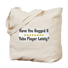 Hugged Tuba Player Tote Bag