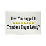 Hugged Trombone Player Rectangle Magnet (100 pack)