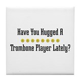 Hugged Trombone Player Tile Coaster