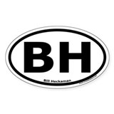 "Bill Heckaman ""BH"" Oval Decal"