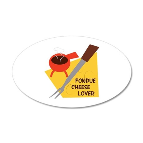 Fondue Cheese Lover Wall Decal