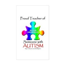 Proud Teacher Rectangle Decal