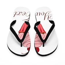 Personalizable Pink Cupcake Flip Flops