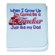When I Grow Up Trucker baby blanket